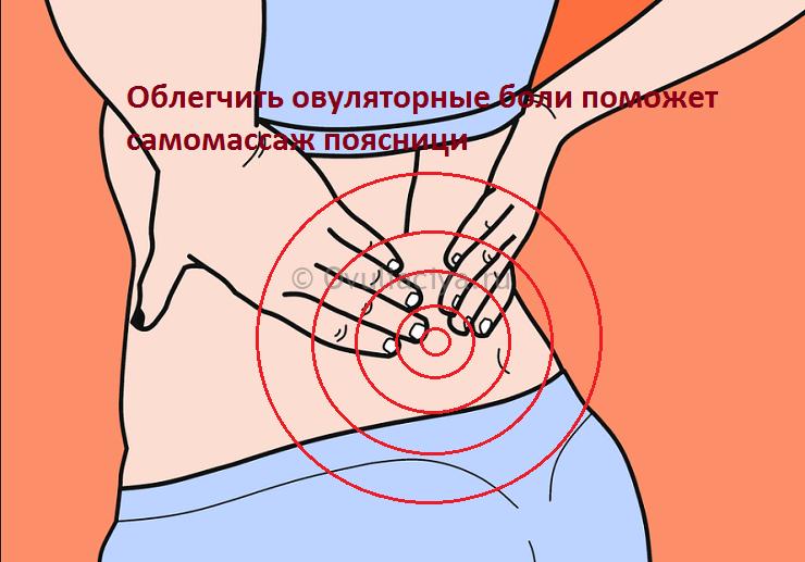 Боли в спине при овуляции - ещё один признак фертильности